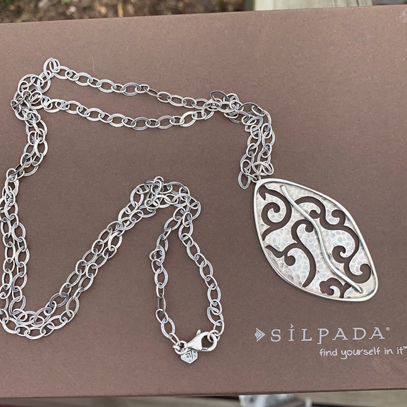 Retired Silpada sterling Stormy Cove Necklace